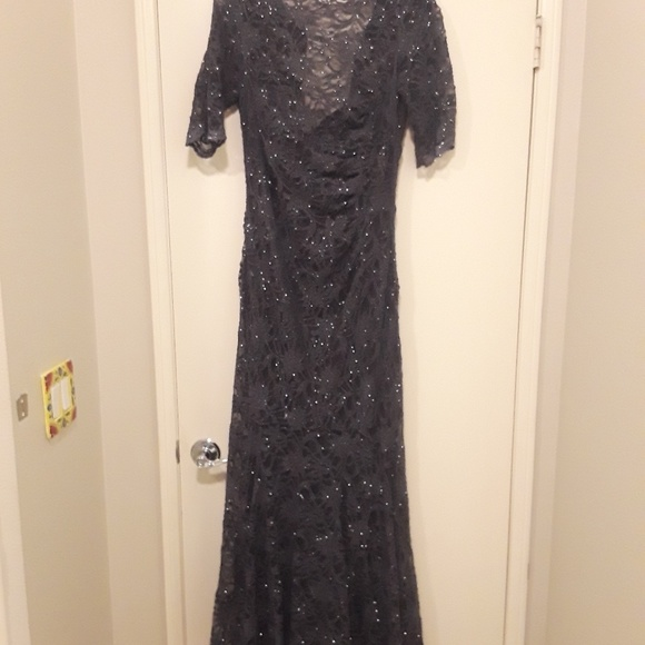 bbcc30dcfbd5 Night Way Collections Dresses | Nightway Collections Charcoal Gray ...
